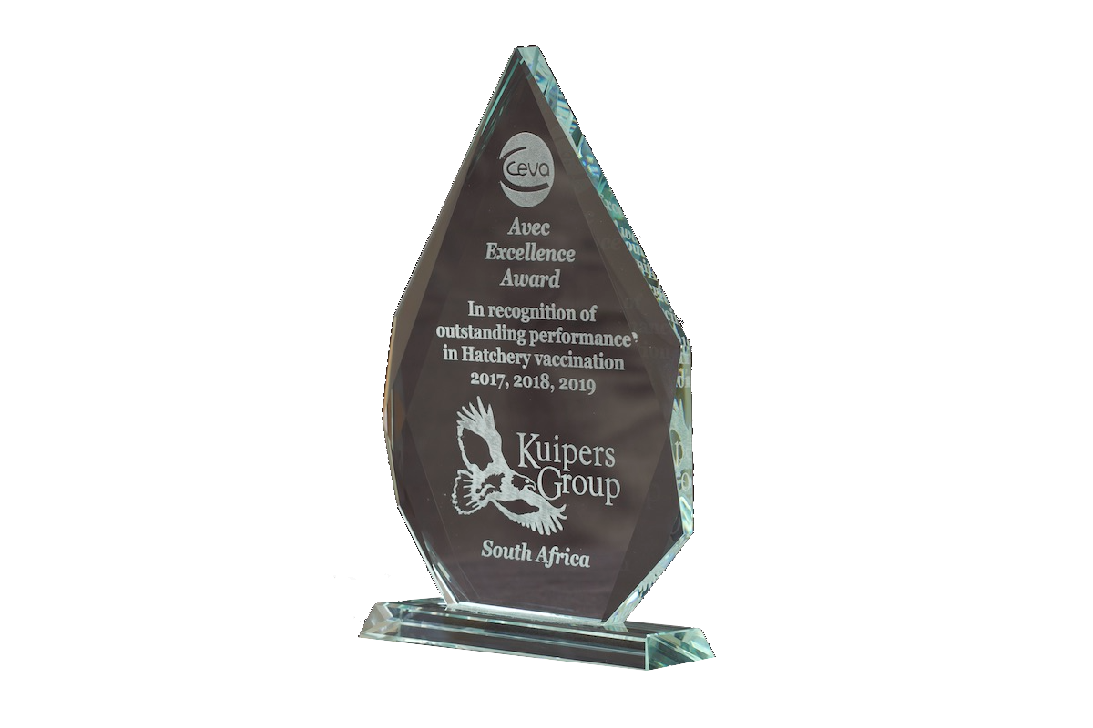 Trophy for CEVA Hatchery of the Year Award